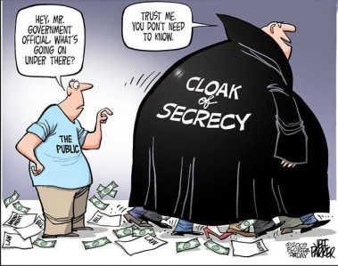 Cloak of Secrecy cartoon